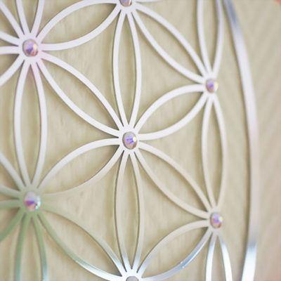 Blume des Lebens 44er Scheibe AB-Steine