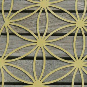 INFEA-Blume des Lebens Edelstahl vergoldet Detail
