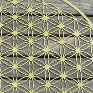 Blume des Lebens erweitert vollendet vergoldet detail