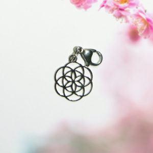 Anhänger,Schmuck,Kettenanhänger,Silber,925,Blume des Lebens,35 mm,Lebensblume,