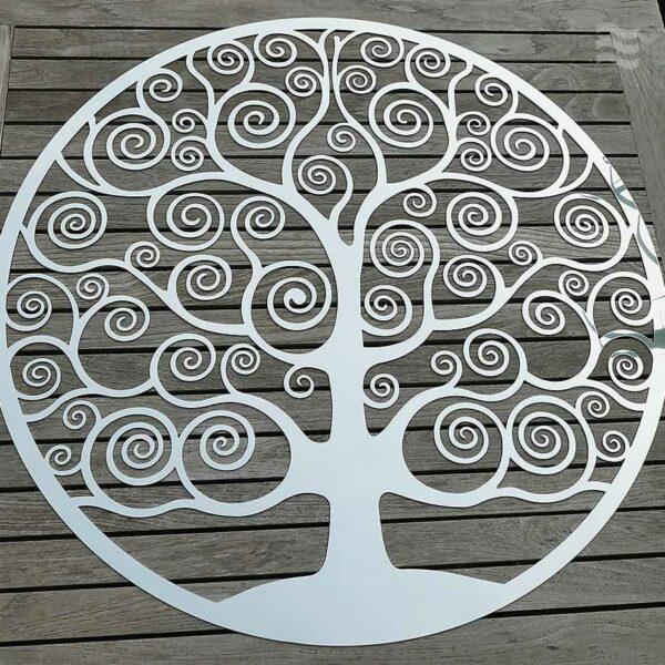 Wandscheibe Lebensbaum edelstahl poliert 86 cm