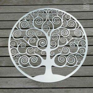 Wandscheibe Lebensbaum edelstahl poliert in 3 Größen 25 bis 86cm