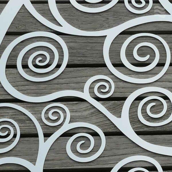Wandscheibe Lebensbaum edelstahl poliert Detailansicht