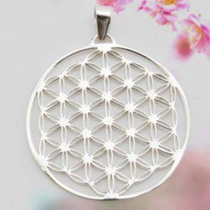 Schmuck,Blume des Lebens,Anhänger,Anhaenger,Silber,35mm,