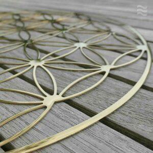 INFEA_Wandbild_Blume_des_Lebens_Edelstahl_vergoldet_handpoliert_44cm Detail
